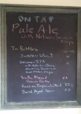 New Beer on Tap - Pale Ale with Nelson Sauvin Hops