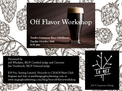 Off-Flavor Workshop  - What is That Flavor in My Beer?!?!?