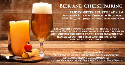 Beer and Cheese Pairing Event - Friday September 13th