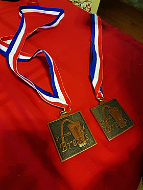 Two Medals: Gin-Barrel Saison and Chicago Chorale Pub Ale